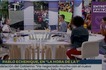 Lamentable TVE: la jugarreta para que el podemita Echenique no condene la dictadura cubana y se vaya de rositas
