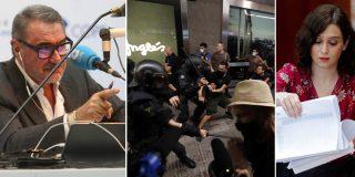 """Herrera planta cara a los violentos de extrema izquierda: """"¿En qué lista está Ayuso?"""""""