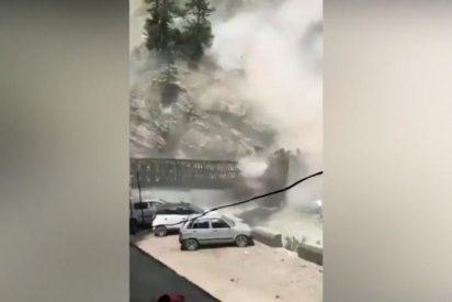Así fue el gran derrumbe de un puente que acabó con la vida de nueve personas