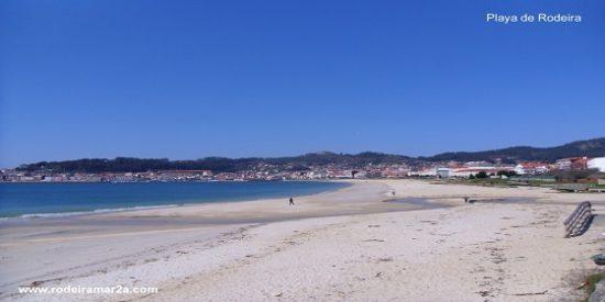 La playa de Rodeira en Cangas de Morrazo, en mejora sustantiva, alegría general.