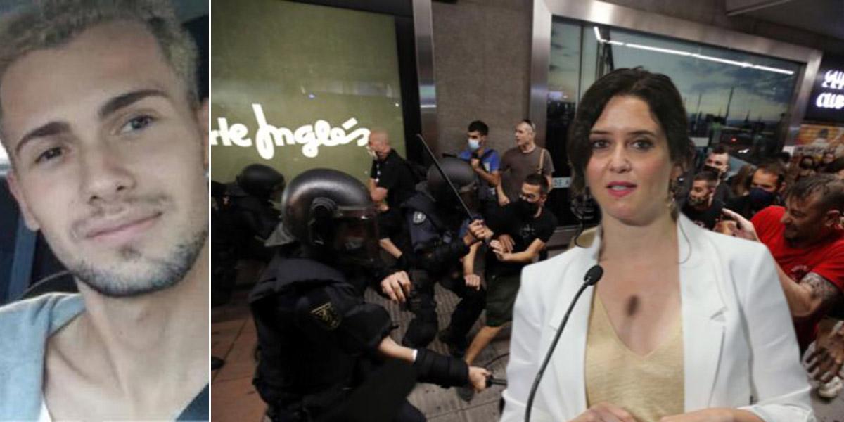 """La extrema izquierda violenta se manifiesta en Madrid amenazando a Ayuso al grito de """"¡estás en nuestra lista!"""""""