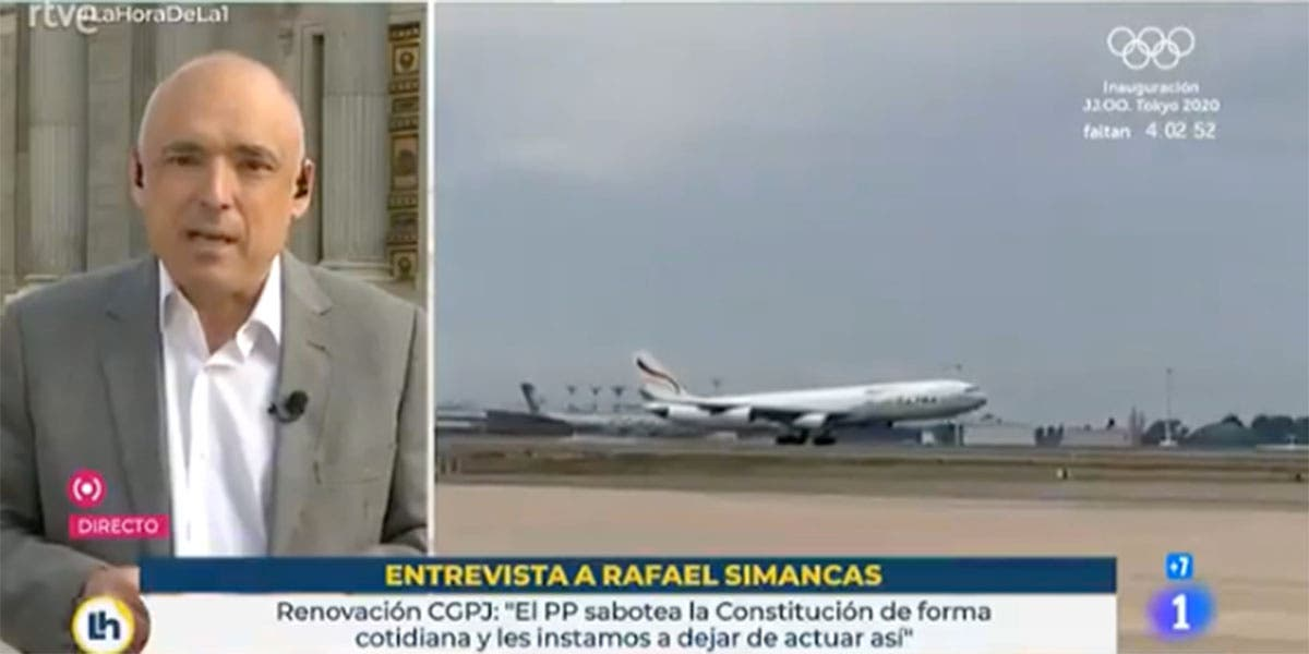 """Bochornoso papelón de Simancas en TVE: """"No son subvenciones, son préstamos; Plus Ultra es una empresa española"""""""