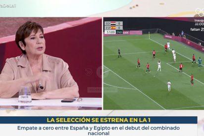 Qué grotesca es esta TVE: Celia Villalobos, Rosa Villacastín y Boris Izaguirre 'analizan' el empate de España en los JJOO