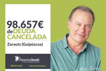 Repara tu Deuda Abogados cancela 98.657€ en Zarautz (Guipúzcoa) con la Ley de Segunda Oportunidad