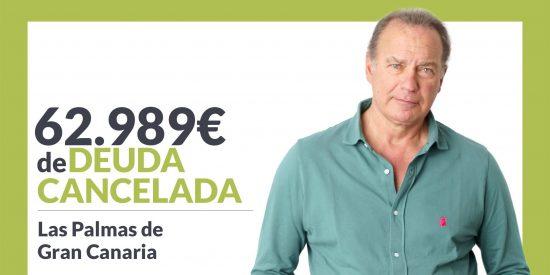 Repara tu Deuda Abogados cancela 62.989€ en Las Palmas de Gran Canaria con la Ley de Segunda Oportunidad