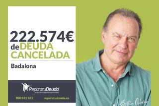 Repara tu Deuda Abogados cancela 222.574 € en Badalona (Barcelona) con la Ley de Segunda Oportunidad