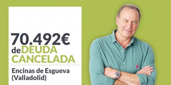 Repara tu Deuda cancela 70.492 € en Encinas de Esgueva (Valladolid) con la Ley de Segunda Oportunidad