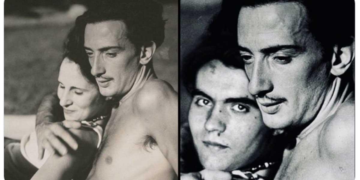 El Ministerio de Igualdad manipula una foto de Dalí para encajar la homosexualidad de Lorca