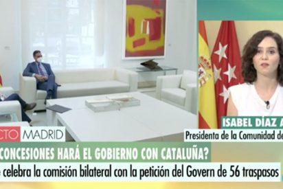 """Isabel Díaz Ayuso 'derriba' la pestilente mesa de Sánchez y Aragonés: """"¡No puede ser!"""""""