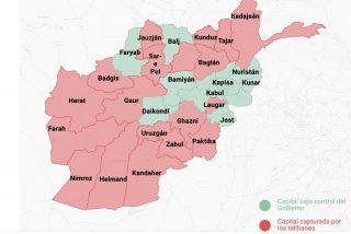 El mapa del arrollador avance de los talibán que obliga a EEUU a desalojar su embajada
