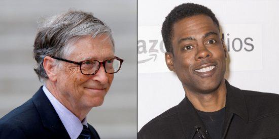 Graban a Bill Gates viendo al cómico Chris Rock búrlandose de él y su reacción a los insultos se hace viral