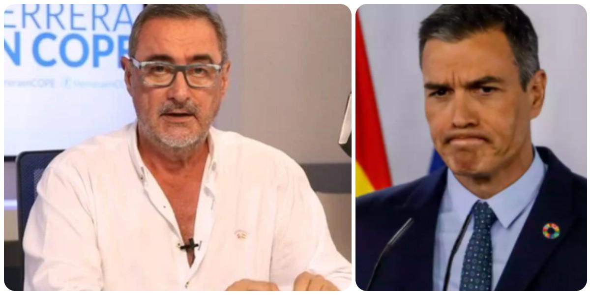 """Carlos Herrera: """"El Gobierno Sánchez se dedica a ponerle faldas a las Matemáticas en vez de arreglar el problema de la luz"""""""