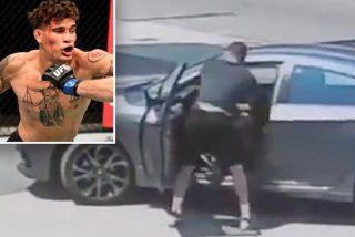 El caco intenta robar el coche del luchador de UFC y de inmediato descubre qué fue mala idea