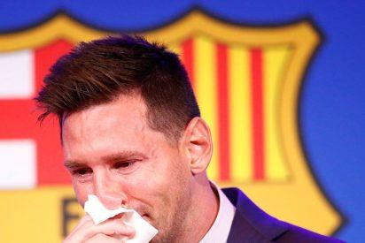 Ponen a la venta por un millón de dólares el pañuelo de papel que usó Messi en su despedida del Barça