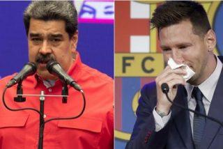 """El tirano Nicolás Maduro raja contra el Barcelona: """"¡Qué feo lo que le hicieron a Messi!"""""""