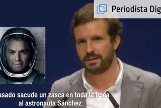 Casado sacude un zasca en toda la boca al 'astronauta' Sánchez
