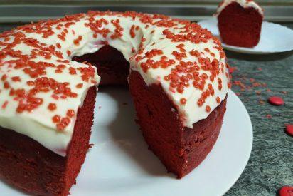 Receta: donut red velvet XXL