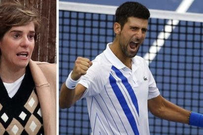 Chorreo de collejas a Anabel Alonso por lanzarse contra Djokovic de forma pésima