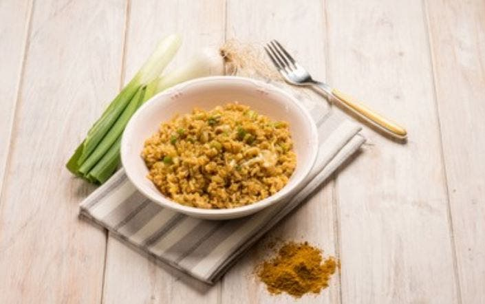 Arroz al curry fácil