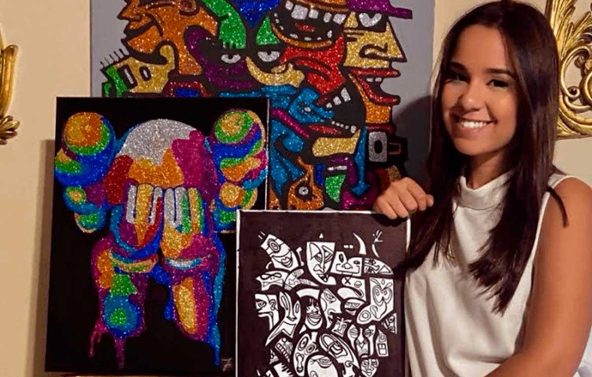 Frances Arévalo, la joven hondureña que cautiva con sus grandes talentos artísticos