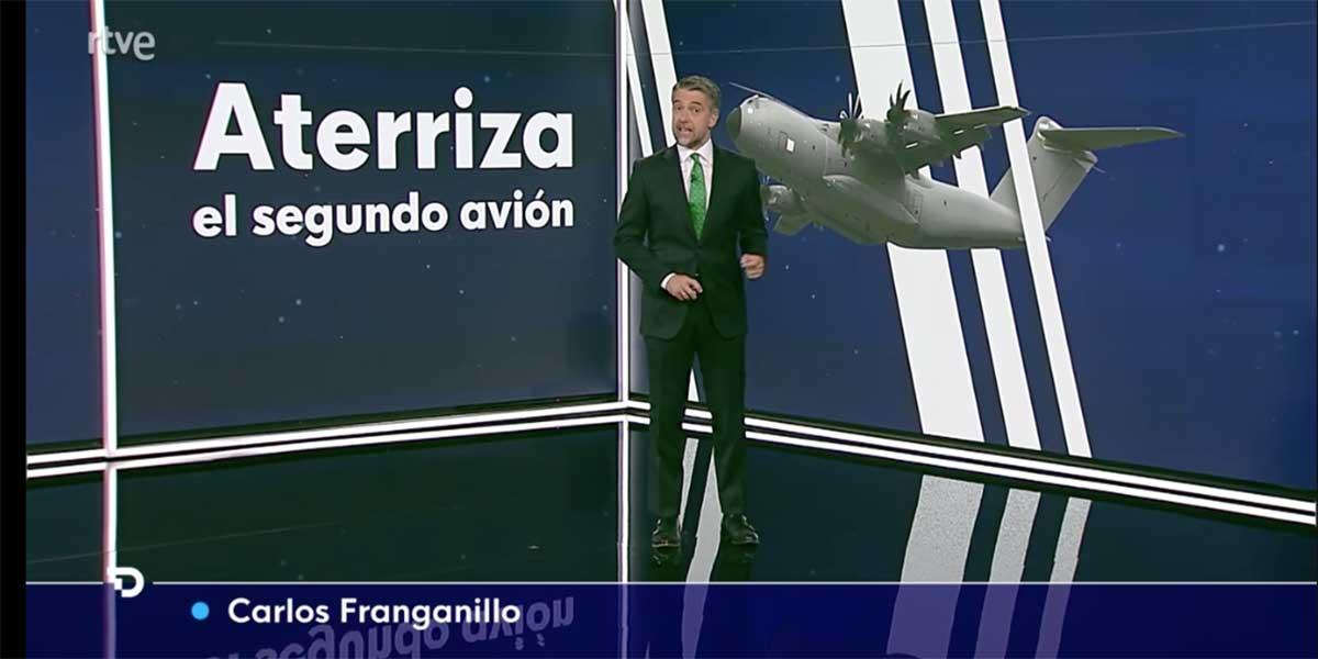 Euforia sanchista en TVE: el telediario fue un monográfico del aterrizaje del segundo avión de Kabul