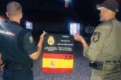 #Los17deKabul: Los policías españoles salvan la bandera que honraba a los dos agentes asesinados en 2015