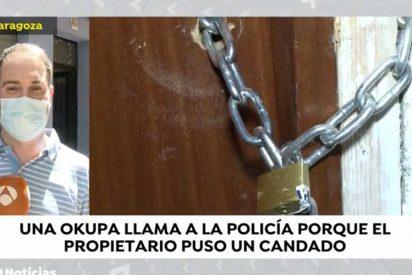 La Policía ayuda a una okupa a entrar en la casa 'okupada' y que había cerrado con un candado el propietario