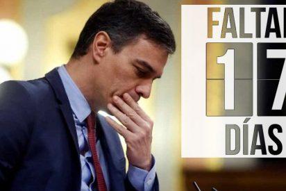 La cuenta atrás que agobia a Pedro Sánchez: 17 días para el ridículo espantoso