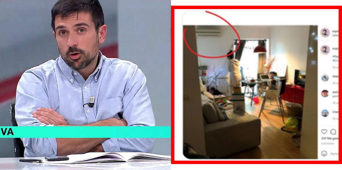 El aire acondicionado traiciona a Ramón Espinar: así le pillan en un renuncio por su última imbecilidad en TV
