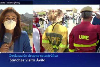 """Culto al líder en TVE: el Telediario de La1 destaca que Pedro Sánchez fue recibido en Ávila """"con aplausos"""""""