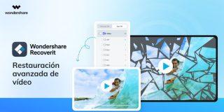 Wondershare Recoverit versión 10.0 con funciones avanzadas de recuperación de vídeo