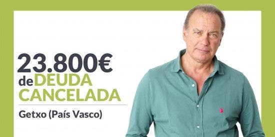 Repara tu Deuda abogados cancela 23.800€ en Getxo (Bizkaia) con la Ley de Segunda Oportunidad
