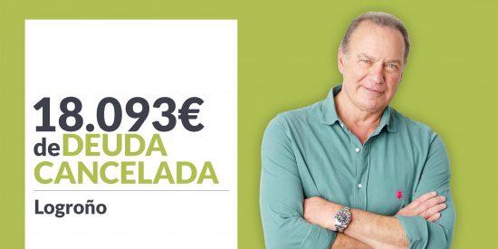 Repara tu Deuda Abogados cancela 18.093€ en Logroño (La Rioja) con la Ley de Segunda Oportunidad