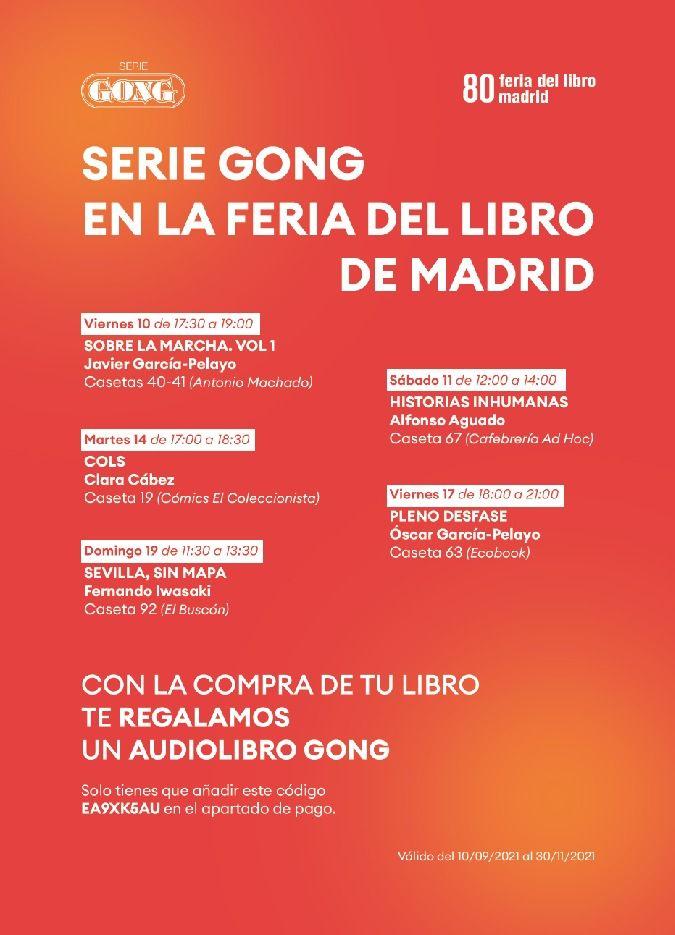 Los autores de Serie Gong firman ejemplares en la esperada Feria del Libro de Madrid