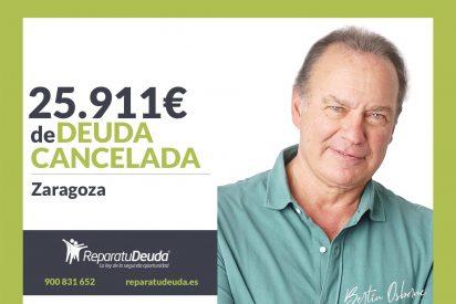 Repara tu Deuda Abogados cancela 25.911€ en Zaragoza (Aragón) con la Ley de la Segunda Oportunidad