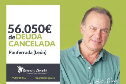 Repara tu Deuda cancela 56.050 euros con avalistas en Ponferrada (León) con la Ley de Segunda Oportunidad