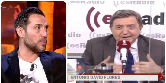 """Antonio David Flores, en el programa de Jiménez Losantos: """"Lo de 'Sálvame' no es telebasura, es telesangre"""""""