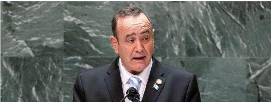 """El presidente de Guatemala en la ONU: """"El 95% de los narcoaviones que llegan provienen de Venezuela"""""""