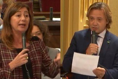 "Armengol enfurece contra Campos (VOX) por instar a investigar el caso de menores tuteladas prostituidas: ""¡Me repugna!"""