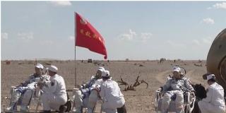 Un grupo de taikonautas regresa tras pasar tres meses en la estación espacial china