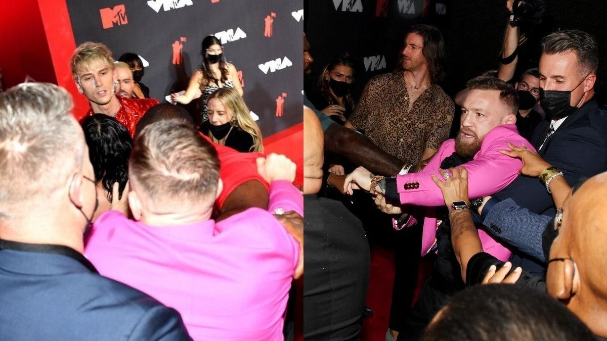 Conor McGregor lanza un poderoso golpe al novio de Megan Fox en la alfombra roja de los MTV Video Music Awards