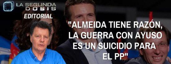 """Alfonso Rojo: """"Almeida tiene razón, la guerra con Ayuso es un suicidio para el PP"""""""
