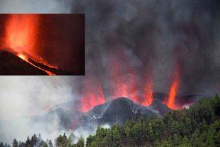 El volcán Cumbre Vieja ruge en La Palma y arroja lava por siete bocas