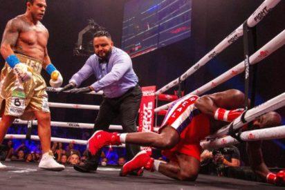 El gran Holyfield vuelve al ring a los 58 años y es humillado y noqueado en un solo asalto