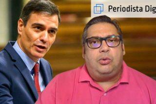 El economista Fran Simón y el presidente del Gobierno, Pedro Sánchez
