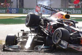 Fórmula 1: El terrorífico accidente entre Hamilton y Verstappen en el GP de Italia