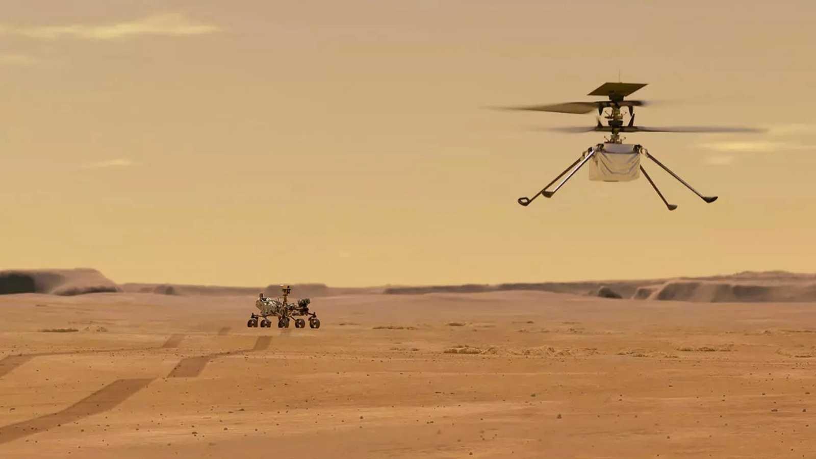 El impresionante hallazgo 3D captado por el helicóptero Ingenuity en Marte