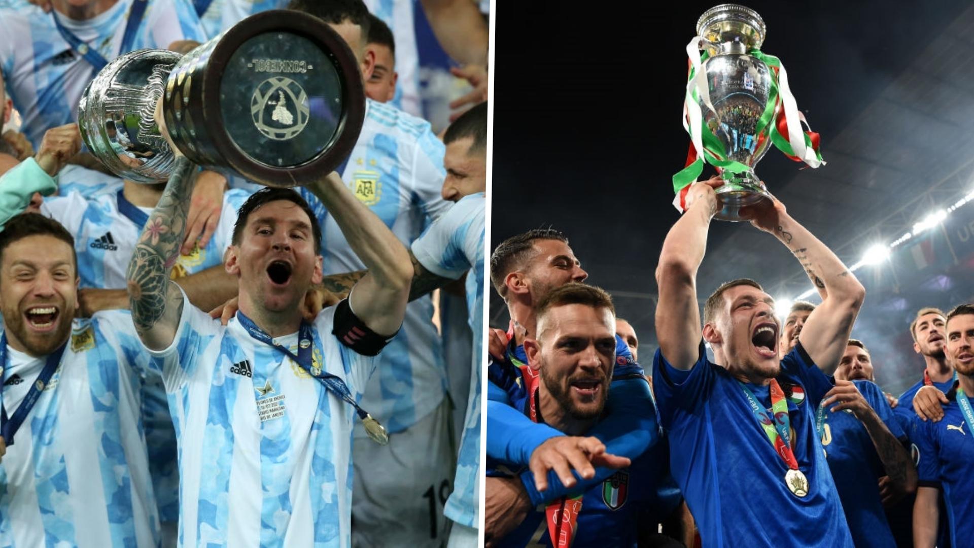 Duelo de titanes: Italia y Argentina se enfrentarán como vigentes campeones de Europa y América