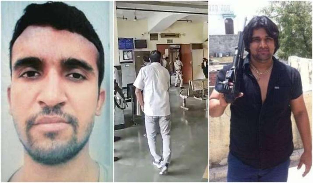 El instante en que 2 pistoleros disfrazados de abogados entran en el tribunal y matan a tiros al líder de una banda rival