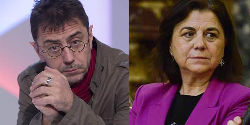 Monedero sacude a su 'camarada' Lucía Méndez por su irónico tuit sobre el 'spot' de Iglesias para Évole